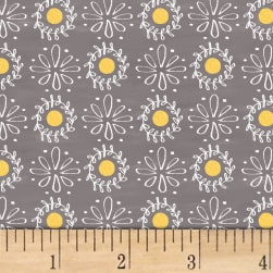 Smitten With Spring Lacey Dot Grey Fabric