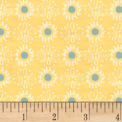 Smitten With Spring Lacey Dot Butter Fabric