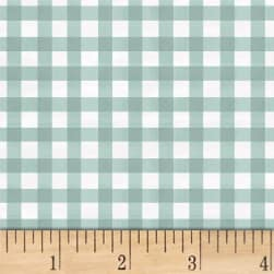 Smitten With Spring Gingham Aqua Fabric