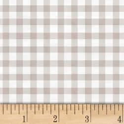 Smitten With Spring Gingham Grey Fabric