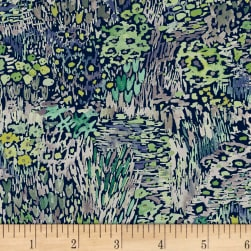 Enchanted Forest Full Bloom Navy Fabric