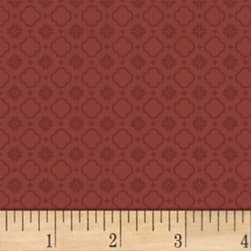 Pauline Medallion Red Fabric