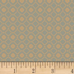 Pauline Medallion Blue Fabric