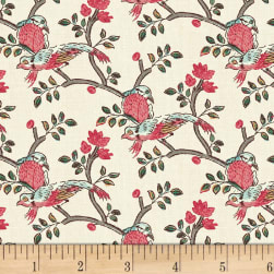 Susannah Birds Pearl Fabric