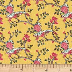 Susannah Birds Marigold Fabric