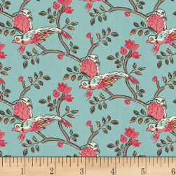 Susannah Birds Bluebell Fabric