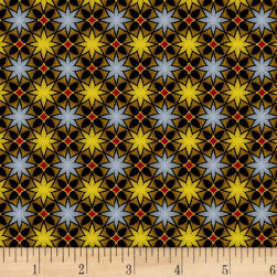 Mystique Star Dot Grey Fabric