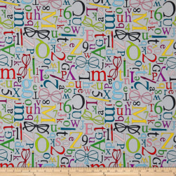 Wordplay Studious Light Grey Fabric
