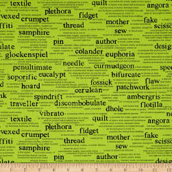 Wordplay Vocabulary Spring Green Fabric