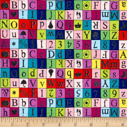 Wordplay Alphabet Multi Fabric