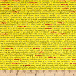 Wordplay Word Play Yellow Fabric