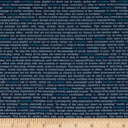 Wordplay Word Play Navy Fabric