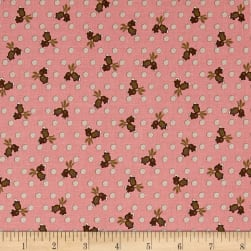 Madeline C.1880-1893 Tulip Dot Raspberry Fabric