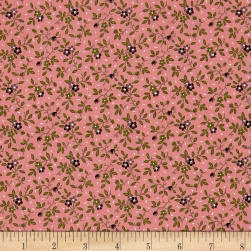 Madeline C.1880-1897 Floral Vine Raspberry Fabric