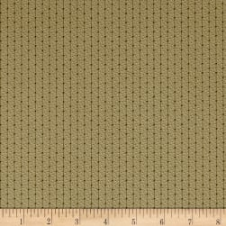 Madeline C.1880-1905 Dot Stripe Olive Fabric