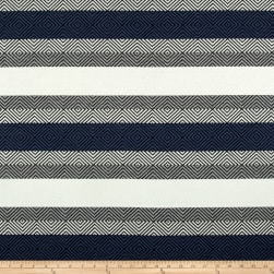 Telio Hamilton Jacquard Knit Stripe Denim Grey Ivory Fabric