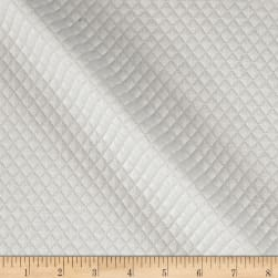 Telio Mini Quilted Knit Diamond Ecru Fabric