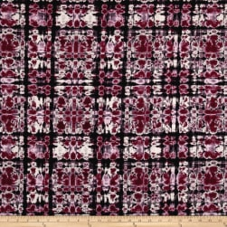 Telio Venice Brushed Jersey Knit Kaleidoscope Cherry Fabric