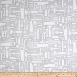 Tool Time Tools Of The Trade Grey Fabric