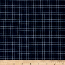 Tool Time Grid Navy Fabric