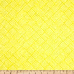 Tool Time Scratchy Squares Yellow Fabric