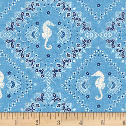 Shoreline Bandana Light Blue Fabric