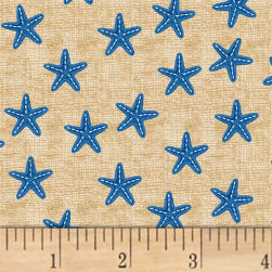 Shoreline Starfish Blue Fabric
