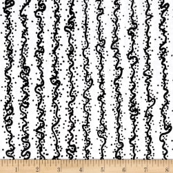 Makers Home Vertical Squiggle White Fabric