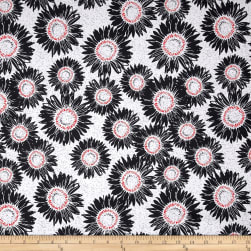 Makers Home Sunflower Charcoal Fabric