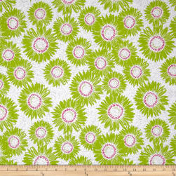 Makers Home Sunflower Grass Green Fabric
