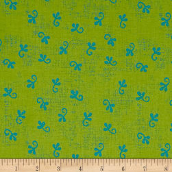 Makers Home Little Ditty Grass Green Fabric