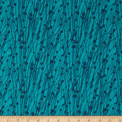 Makers Home Beach Grass Turquoise Fabric