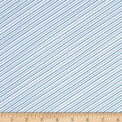 Seaside Stripe White Fabric