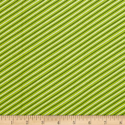 Seaside Stripe Lime Fabric