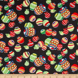 South Of The Border  Tossed Pots Black Fabric