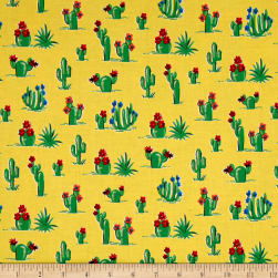 South Of The Border  Cactus Yellow Fabric