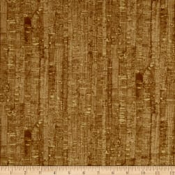 Uncorked Cork Metallic Gold Fabric