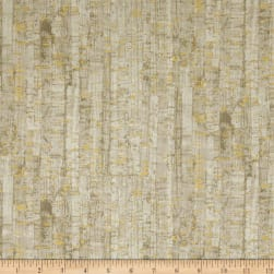Uncorked Khaki Metallic Gold Fabric