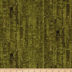 Uncorked Olive Metallic Gold Fabric