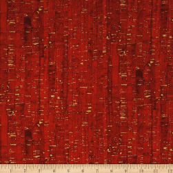 Uncorked Candy Apple Metallic Gold Fabric