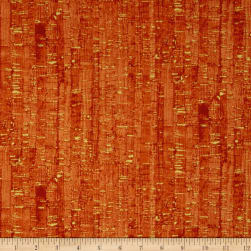 Uncorked Mandarin Metallic Gold Fabric