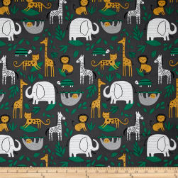 Wild About You Gone Wild Charcoal Fabric