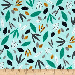 Wild About You Leaves Mint Fabric