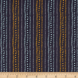 Wild About You Stripe Charcoal Fabric