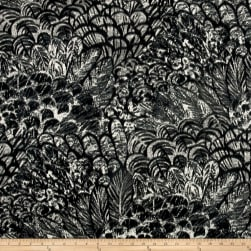 Robert Allen @ Home Wimbu Soft Black Fabric