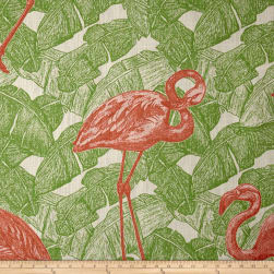Duralee Tropicalia Pink/Green Fabric