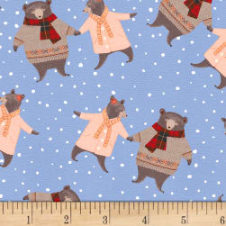 A Walk In The Woods Bears Blue Fabric