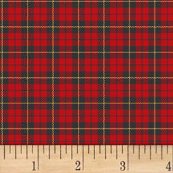 A Walk In The Woods Plaid Red Fabric