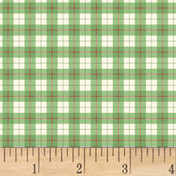 A Walk In The Woods Plaid Green Fabric