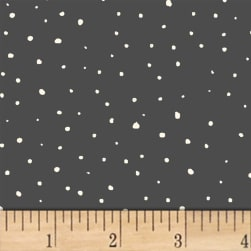 A Walk In The Woods Snow Charcoal Fabric